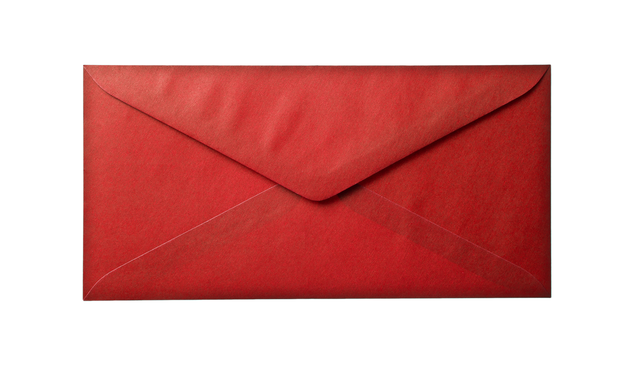 Red envelope png. Paper background transparent photohdx