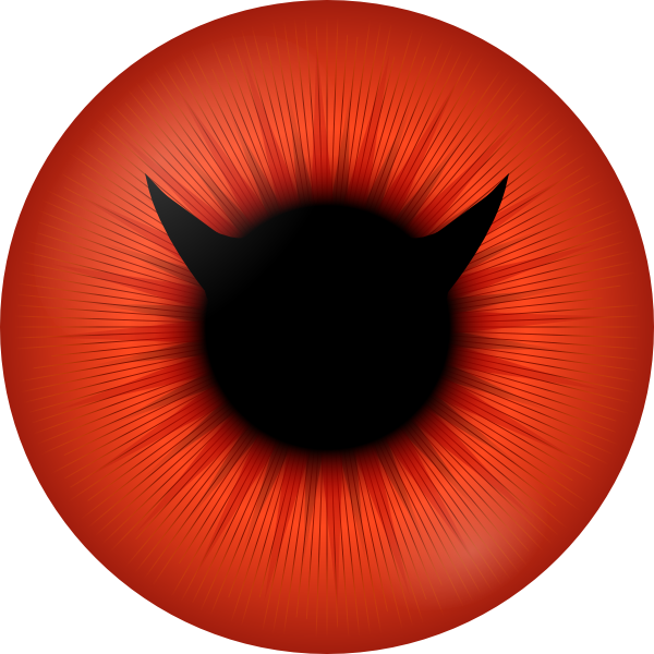 Red evil eyes png. Eye clip art at