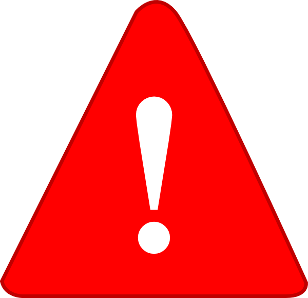 Red exclamation mark png. Pre metro operations ltd
