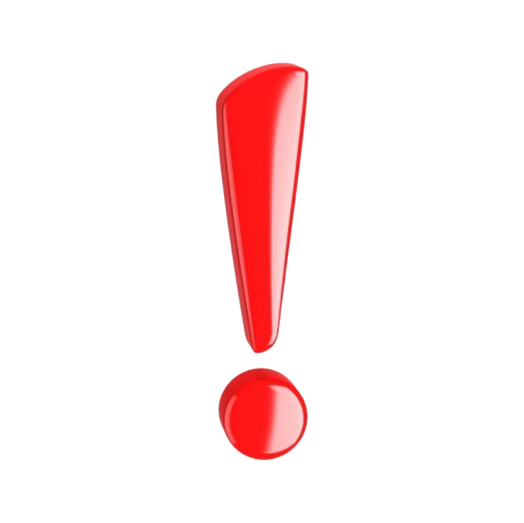 Red exclamation mark png. Paper labor audio bm