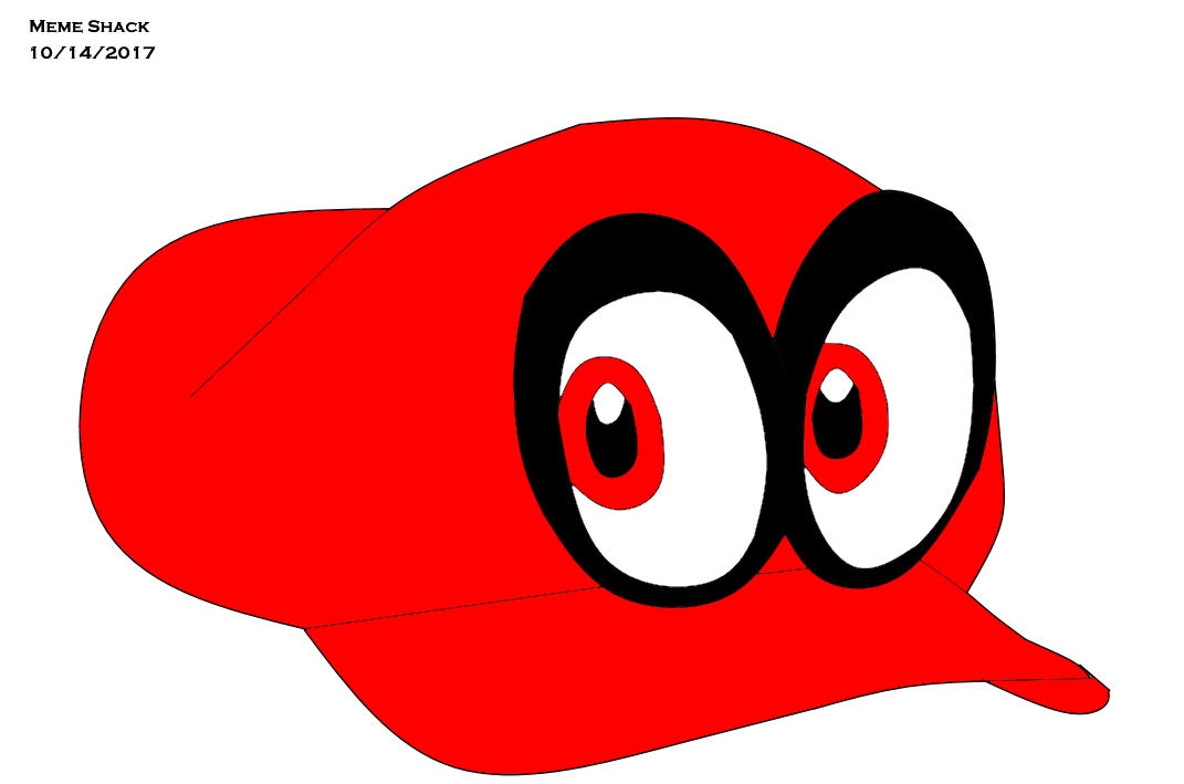 Red eye meme png. Cappy by shack on