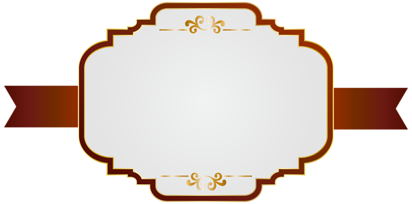 Red fancy label png. White clip art image
