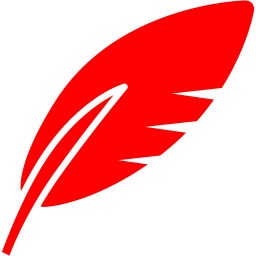 Red feather png. Icon free icons