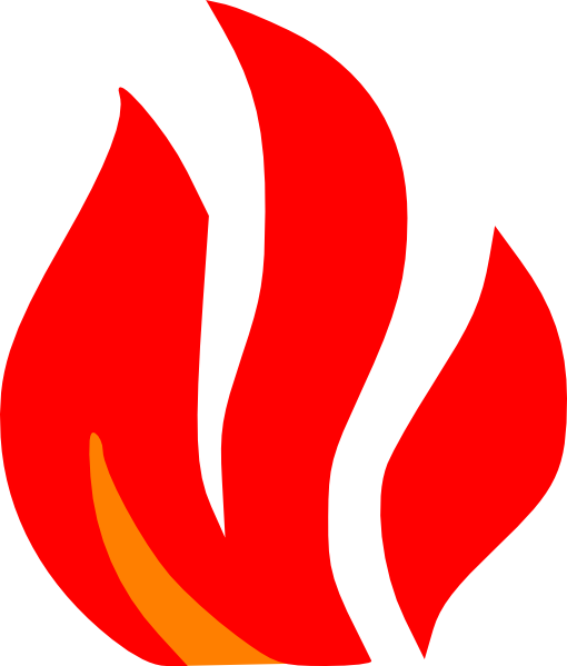 Red fire png. And orange clip art