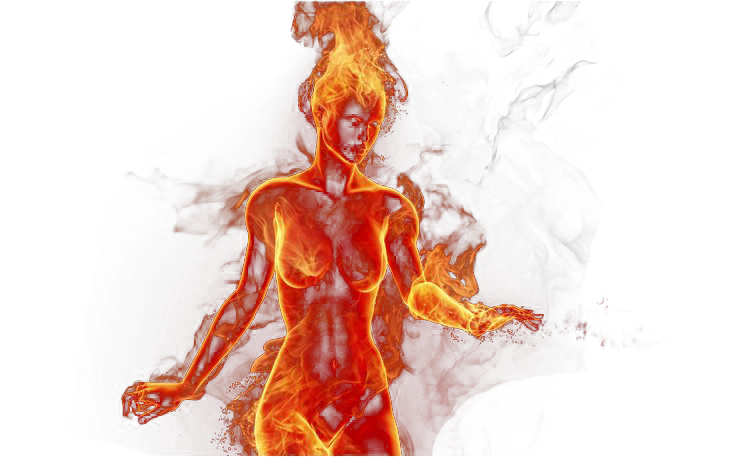 Red fire png. Girl by katherinesdeath on
