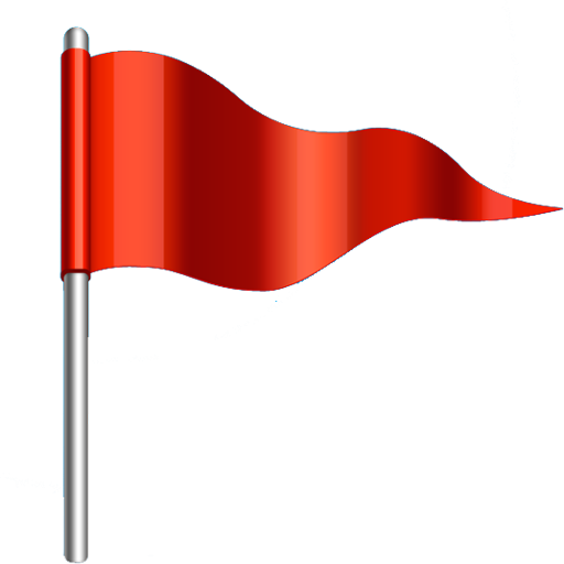Red flag png. Flags for women