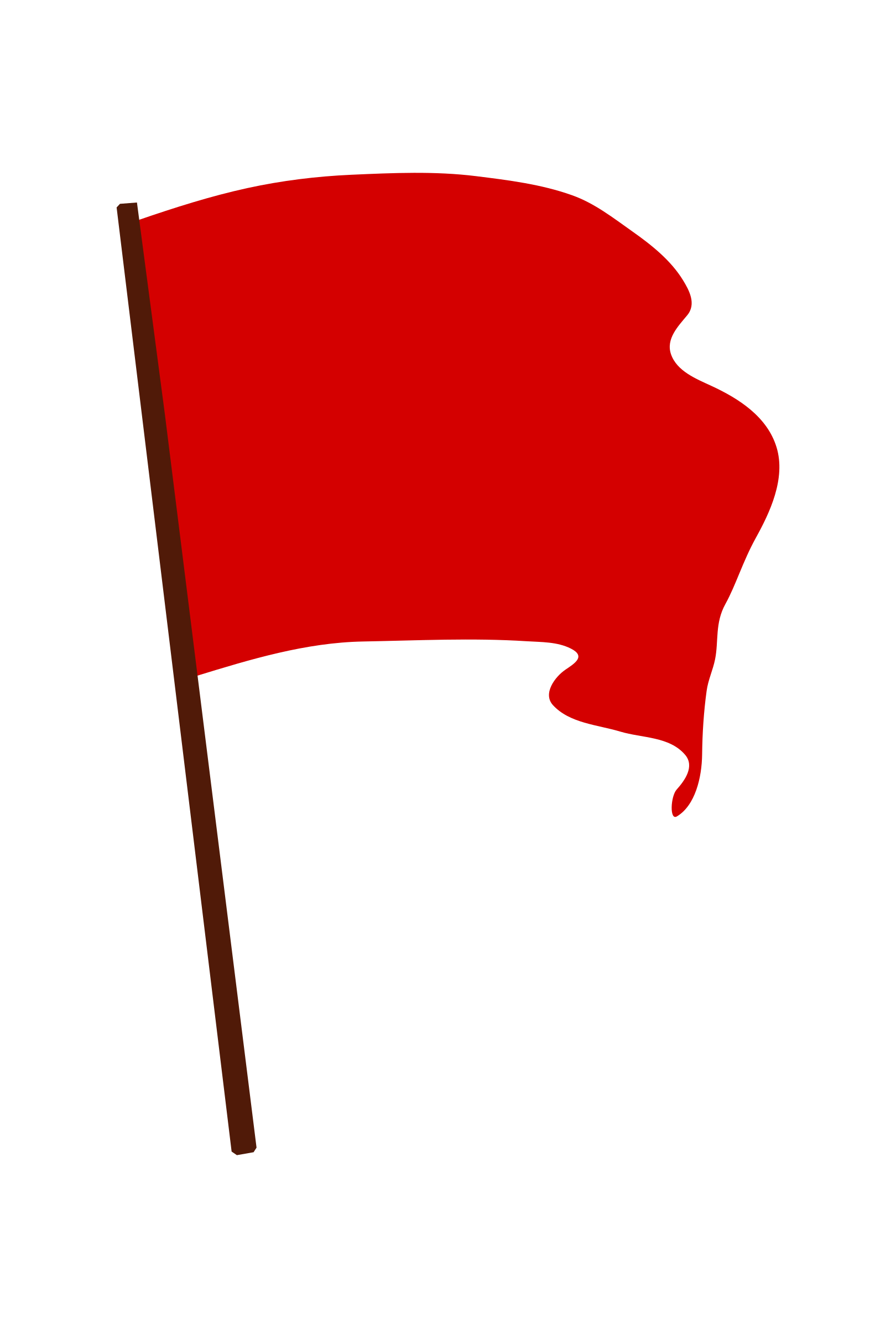 Clipart waving red big. Flag png png freeuse download