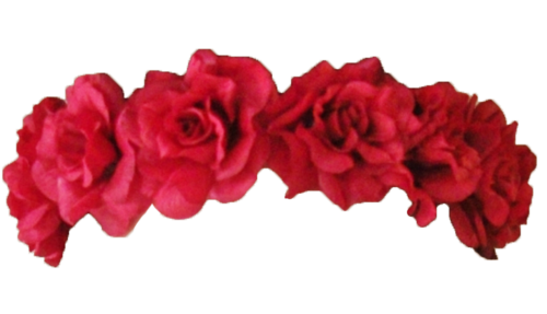 Red flower crown png. Pin by s r