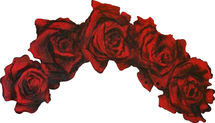 Red flower crown png. Flowercrown flowers flores corona
