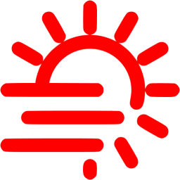 Red fog png. Day icon free weather