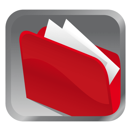 Red folder icon png. Square transparent svg vector