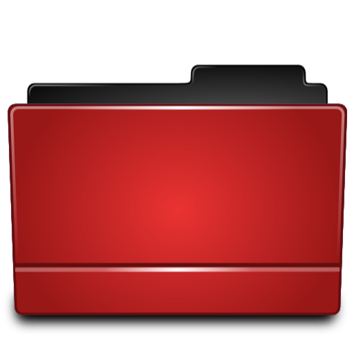 Red folder png. Directory icon free icons
