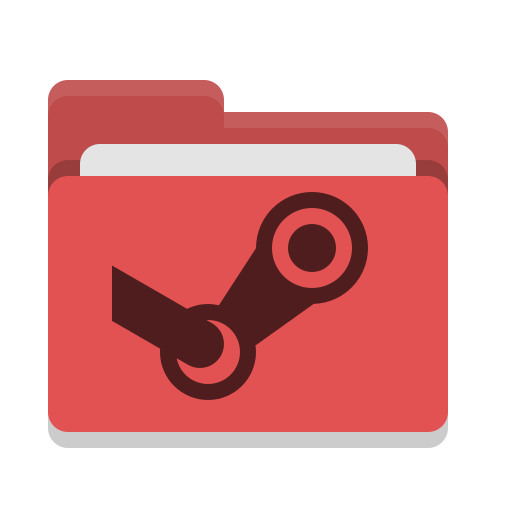 Red folder png. Steam icon free of
