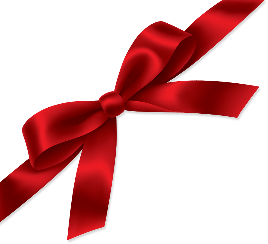 Red gift bow png. Ribbon image purepng free