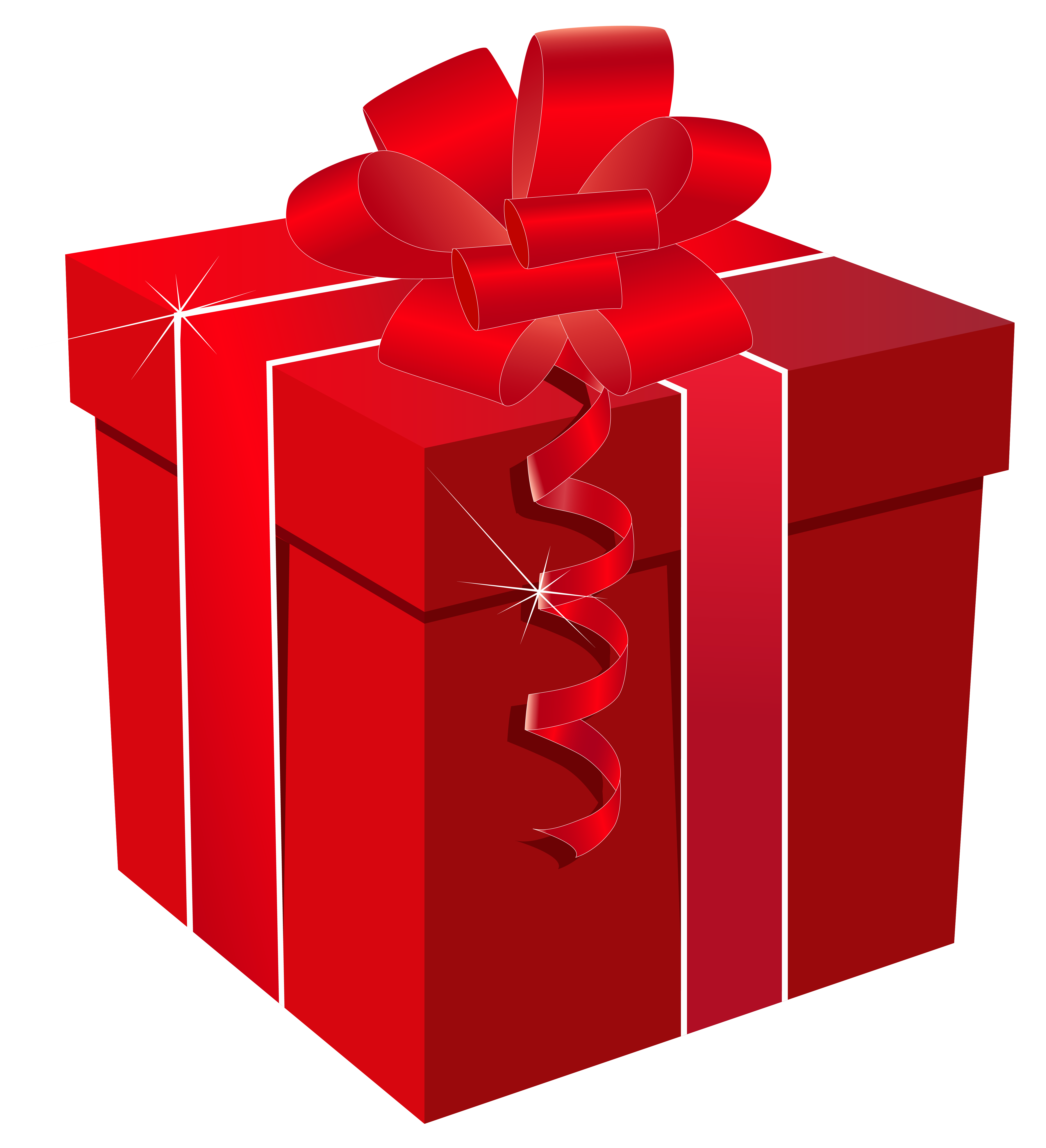 Red gift bow png. Box with clipart image
