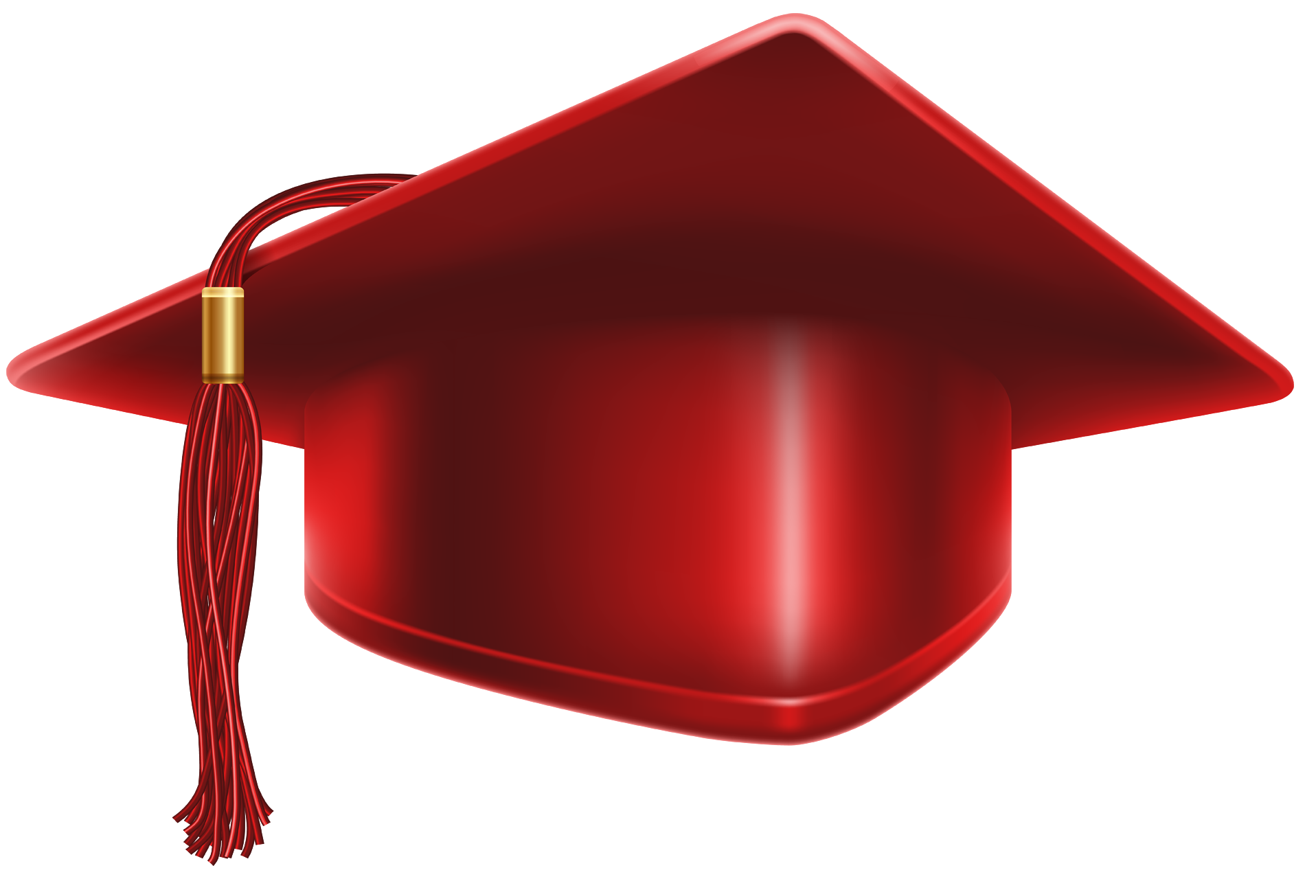 Red cap png. Graduation and diploma clipart