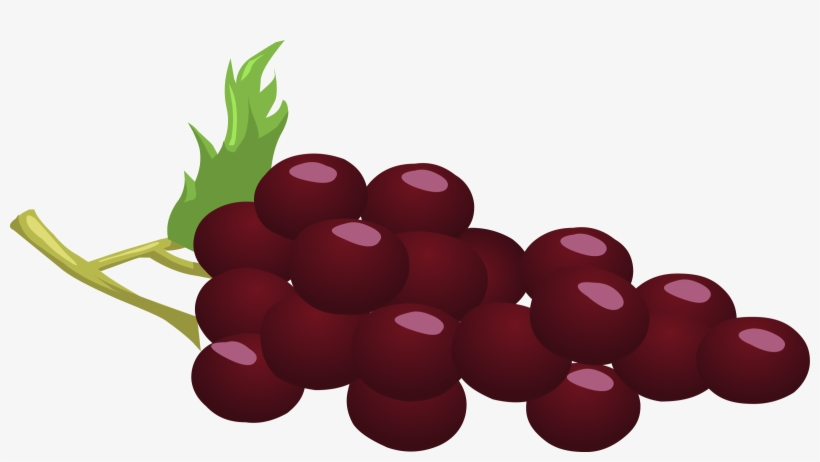 Red grape. Clipart grapes png image