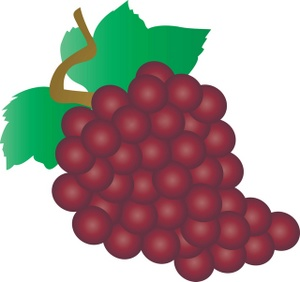 Red grape. Free grapes cliparts download