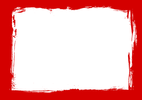 Red grunge border png. Frames psd svg transparent