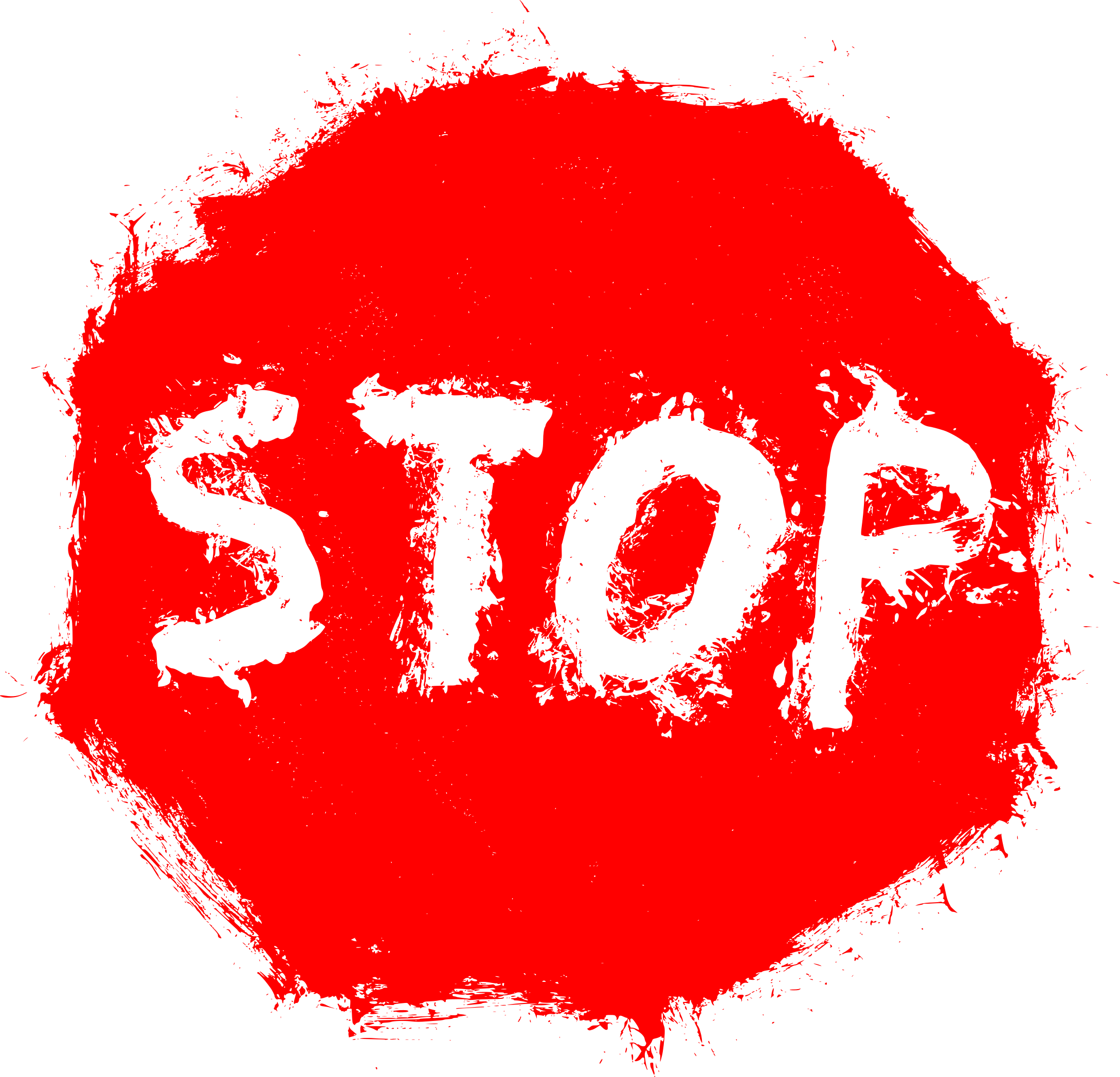 Red grunge png. Stop sign transparent onlygfx