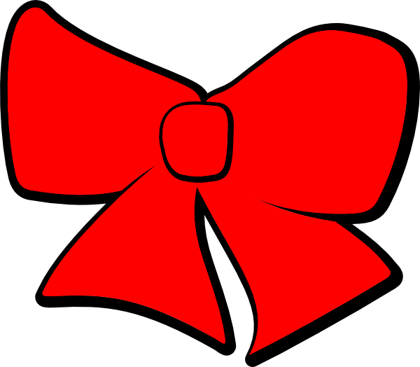 Red hair bow png. Clip art at clker