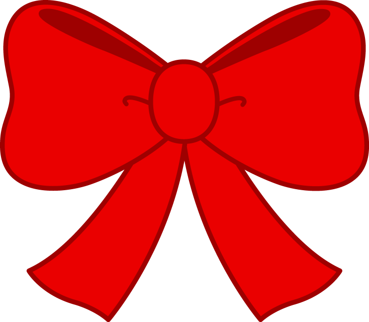 Red hair bow png. Christmas