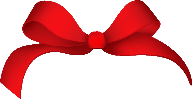 Red hair bow png. Ribbon twenty eight isolated