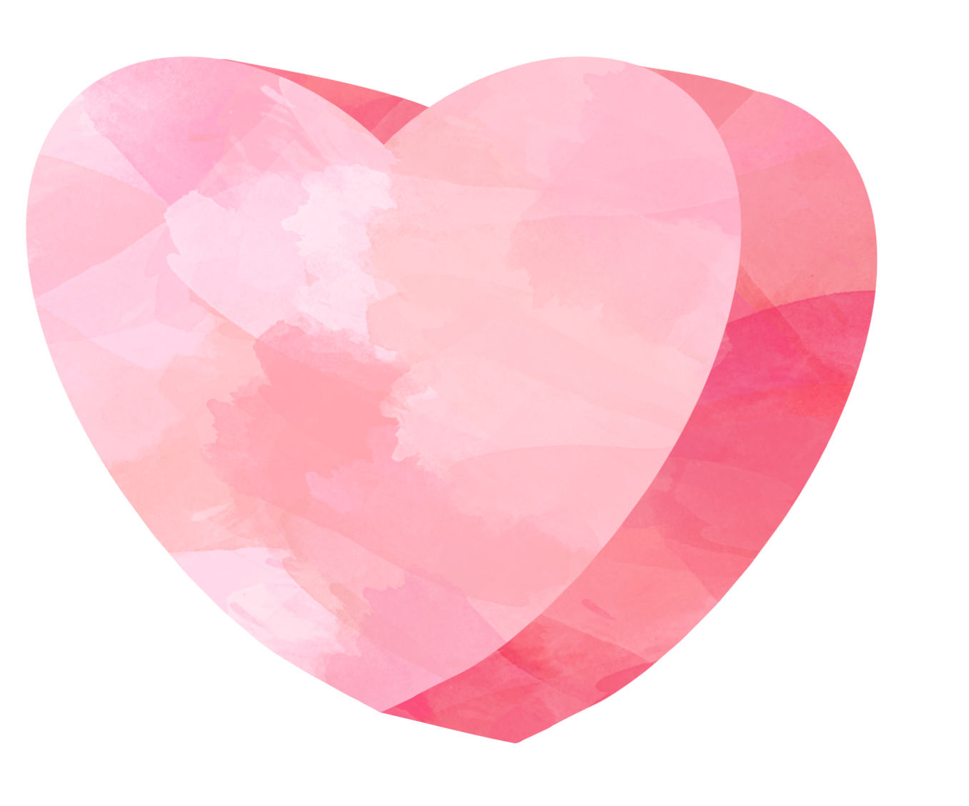 Red heart candy clip art. Watercolor hearts