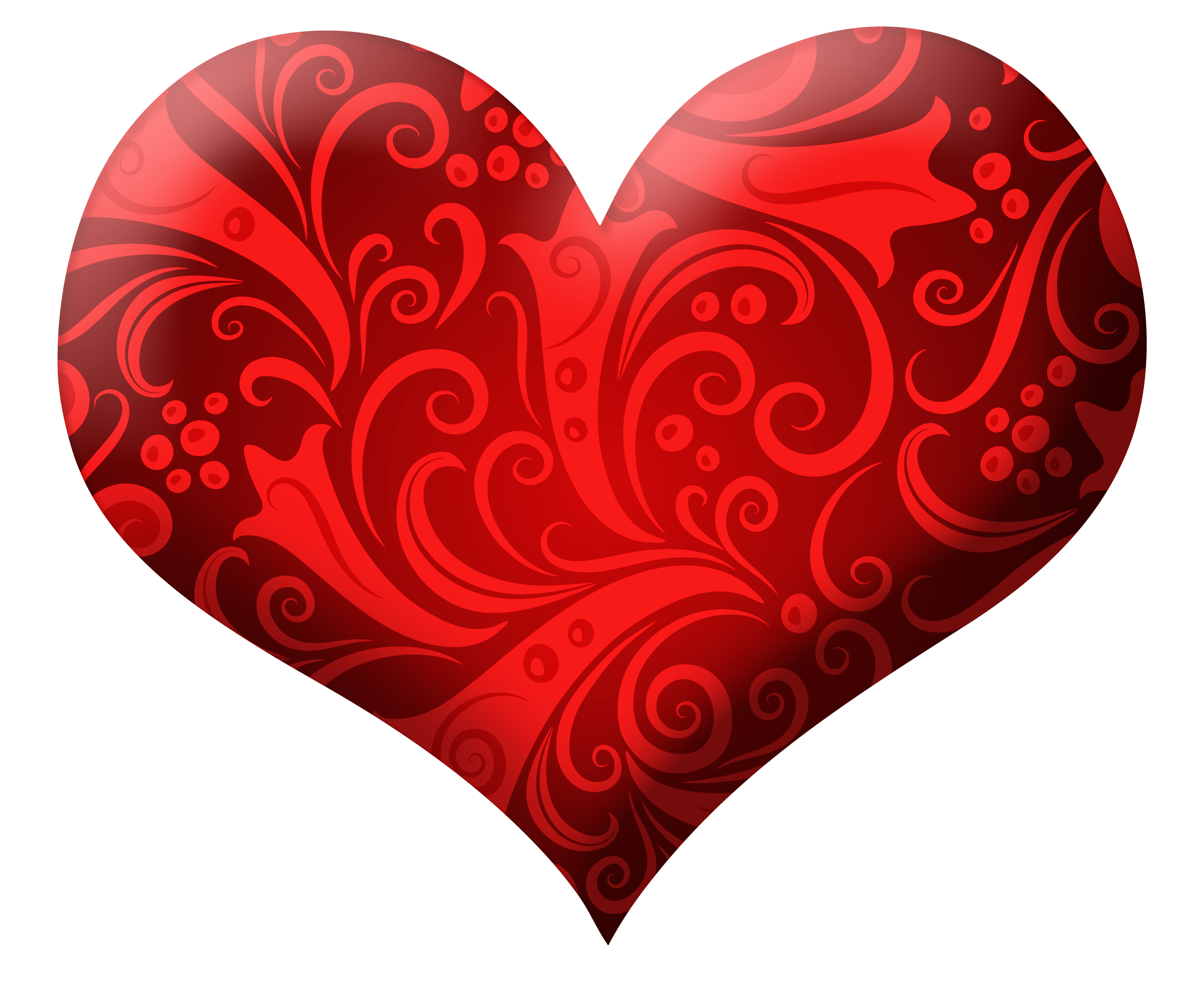 Red heart clipart png. With ornaments picture gallery
