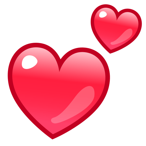 Red heart emoji png. Facebook love symbol choice