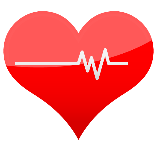 Red heart icon png. Medical vista by dapino