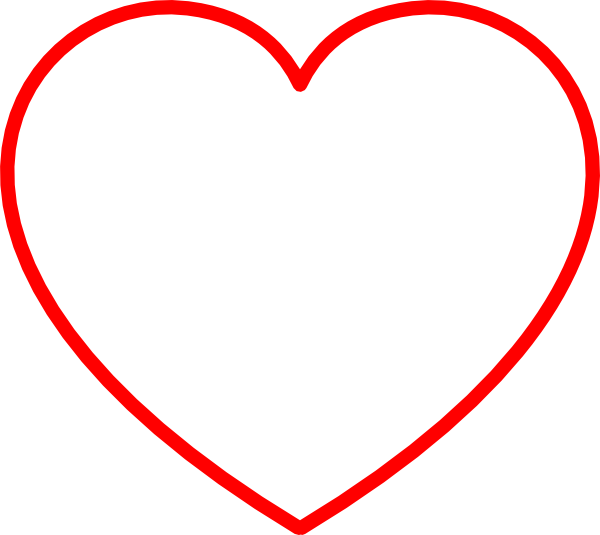 Red heart outline png. Clip art at clker