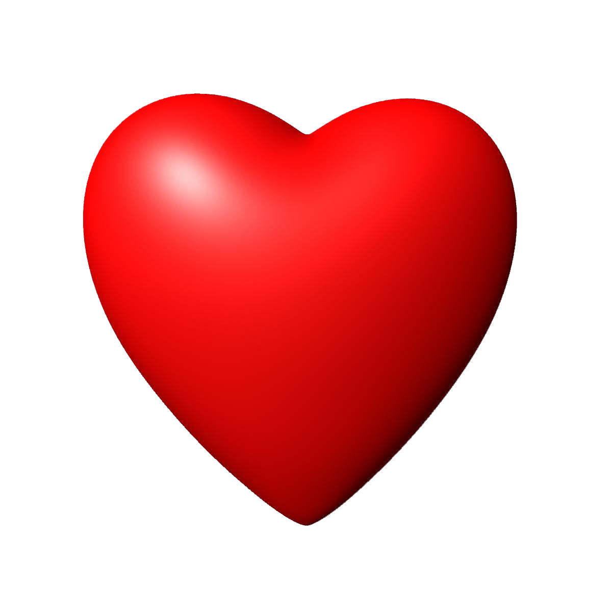 3d heart png. D red image