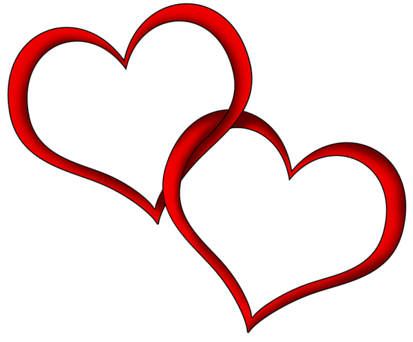 Red hearts png. Transparent clipart picture gallery