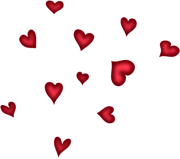 Red hearts png. Download picture transparent background