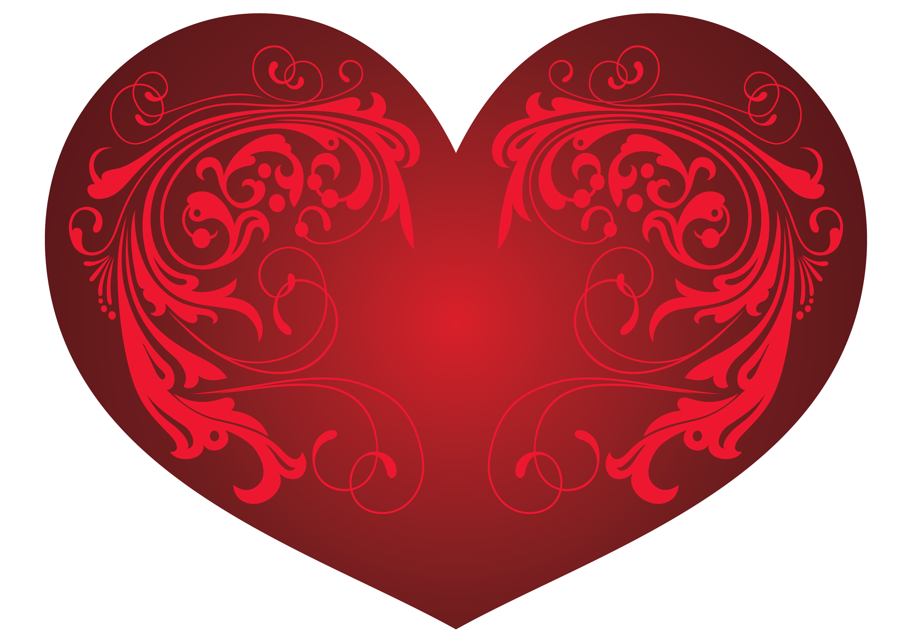 Red hearts png. Heart and ornaments clipart
