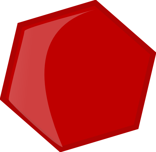 Red hexagon png. Clip art at clker