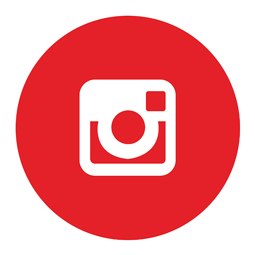 Red instagram png. Flat social media icons