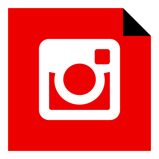 Red instagram png. Social media icon ico