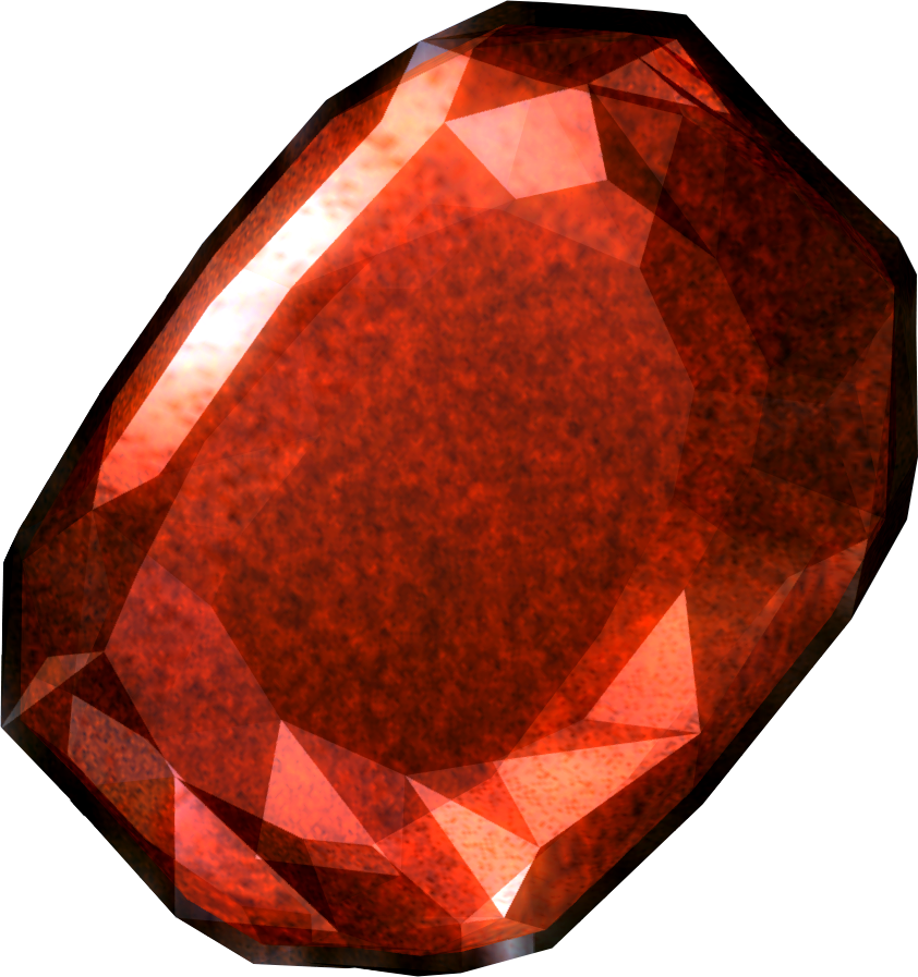 ruby transparent oval