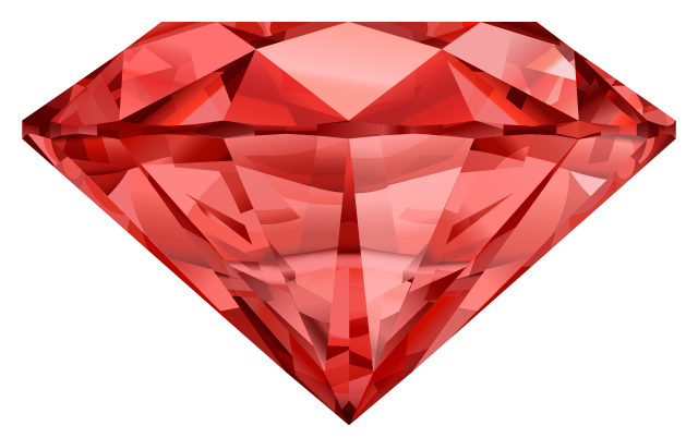 ruby transparent teardrop
