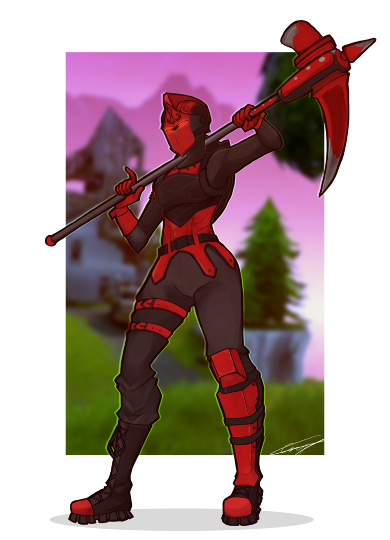 Red by caseykeshui on. Drawing knight fortnite banner free stock