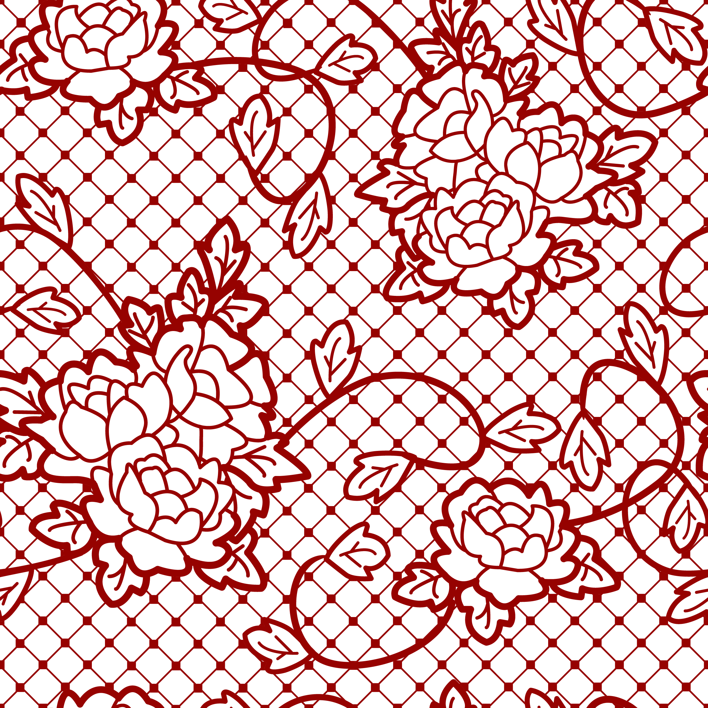 Red lace png. Transparent decorative with roses