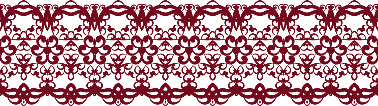 Red lace png. Pattern coffee transprent free