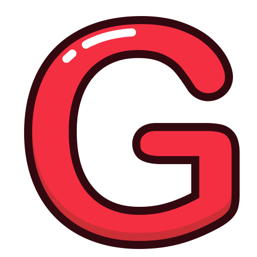 Red letter g png. Alphabet letters icon size