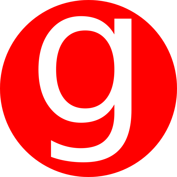 Red letter g png. Rounded with clip art