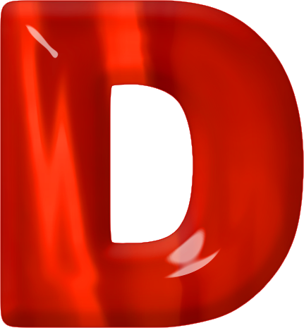 Red letter i png. D photo arts