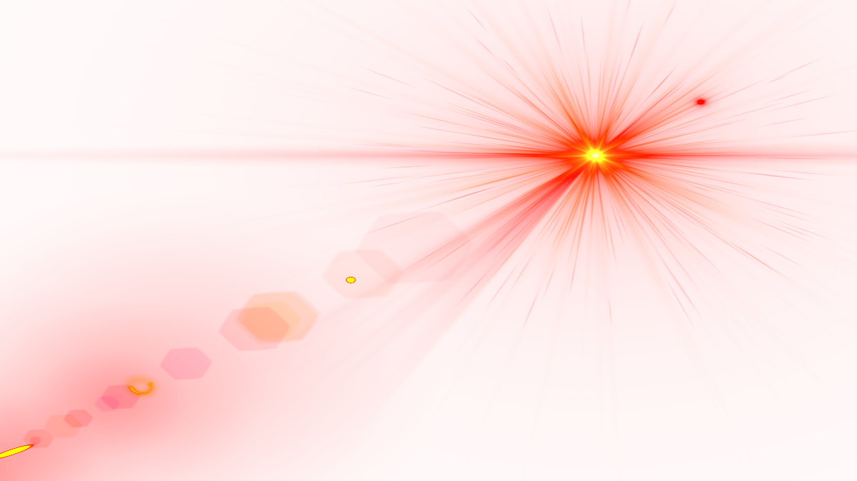 Red light effect png. Side lens flare image
