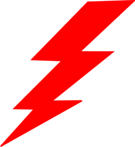 Lightning bolt clipart red. Clip art at clker