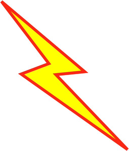 Red lightning bolt png. And yellow clip art